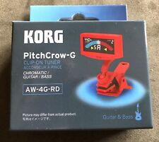 Korg PitchCrow-G Red Clip On Instrument Tuner AW-4G-RD Bright LCD Display