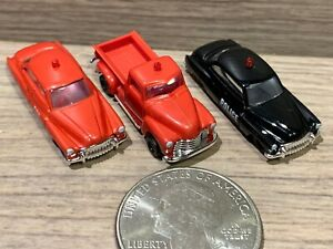 3 N Scale Busch Cars & Truck: Police & Fire Chief  Buick + Chevy