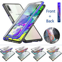 For Samsung Galaxy A10 A20 A30 A50 A7 Magnetic Adsorption Full Glass Case Cover