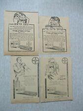 Bayer, Aspirine:  6 x old paper advertising,Hebrew newspaper, Palestine,1929