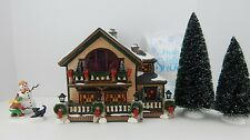 Dept 56 The Original Snow Village Christmas Lake Chalet #55061 New Nice Set!