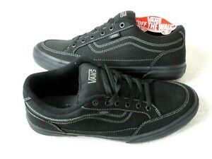 Vans Mens Bearcat Canvas Classic Skate shoes All Black Size 10.5 VN000DT2186