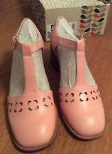 Orla Kiely Clarks, Pink Bibi Shoes In Size UK 4.5,  EUR 37.5, US 7, Vintage