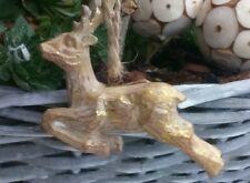 Christbaumschmuck Hirsch Shabby Chic Gold Nostalgie*Weihnachtschmuck *Brocante