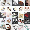 Fashion Women Resin Acrylic Statement Geometric Dangle Earrings Ear Stud Jewelry