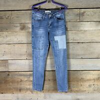Guess Womens Patch Jeans Skinny Medium Wash Size 27