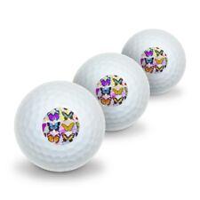 Colorful Butterflies Butterfly Design Novelty Golf Balls 3 Pack