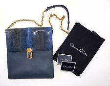 2195 00 Oscar De La Renta Slim Sloane Genuine Snakeskin Leather Shoulder Bag