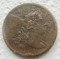1794 1C Liberty Cap Flowing Hair Large Cent Fine Detail Corroded Rare Date