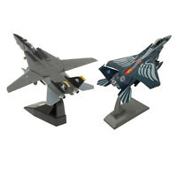 2x 1:100 F-15E Strike Eagle Aircraft + F-14 Tomcat Army Model Office Decor