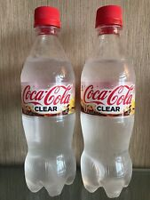 COCA COLA CLEAR 2018 LIMITED EDITION JAPANESE SODA BOTTLES 2 X 500ml