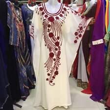 Marroquí Blanco Dubái Caftanes Abaya Vestido Muy Elegante Largo Farasha Ms 1991