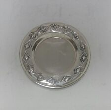 NEW Solid Silver Sterling 925 Kiddush Cup Tray Saucer Plate Dish Judaica Shabbat