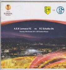 Orig.PRG   Europa League  2011/12   AEK LARNACA - FC SCHALKE 04  !!  SELTEN
