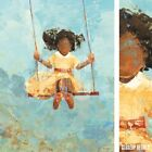 """18W""""x24H"""" SWING NO. 11 by REBECCA KINKEAD - PLAYGROUND GIRL - CHOICES of CANVAS"""