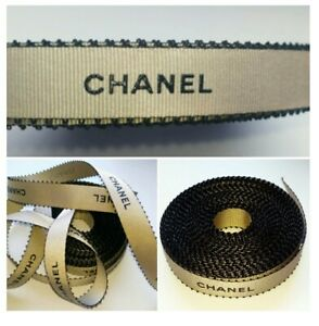 Chanel gold & black lettering gift wrap decor ribbon ~10mX15mm~ LE Spring 2018