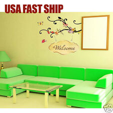 Removable Art Vinyl Quote DIY welcome Wall Sticker Decal Mural Home Room Decor