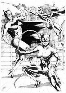 "DC Girls (11""x17"") - original comic art 1/1 by Rafael Paiva - CosmoTrama"