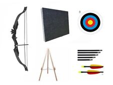 Archery Kids Childrens Compound Bow and Arrow Junior Set Package Target & Stand