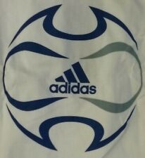 NEW!!  ADIDAS T-SHIRT with Blue and Gray ADIDAS LOGO ON BACK - LARGE