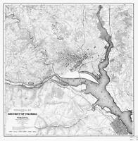 District of Columbia - Potomac River Map - 1884