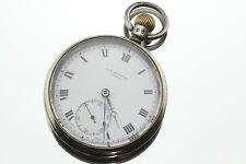 Antique J.W. Benson Sterling Silver 1933 Pocket Watch 15 Jewels