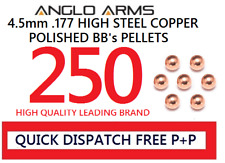 Anglo arms 250 steel 4.5mm high polished BB's pellets round copper .177 metal