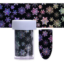 Holographic Nail Foils Christmas Snowflake Laser Nail Art Transfer Stickers Tips