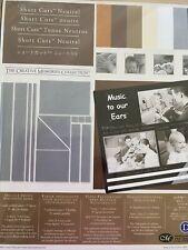 Creative Memories Scrapbooking Neutral Short Cuts Die Cut Photo mounting paper