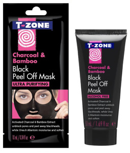 T-Zone - Charcoal & Bamboo Black Peel Off Alcohol Free Face Mask - 10ml & 50ml