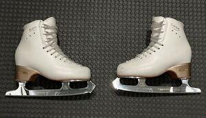 EDEA OVERTURE Ice Figure Skates Size 225 C Ivory Jackson ULTIMA ASPIRE XP Blade