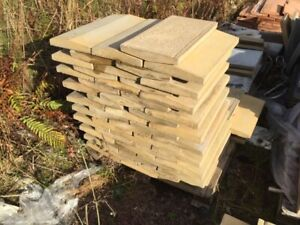 Concrete Coping Stones - 30nr - Buff - 300 x 600mm - Twice Weathered