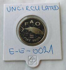 2 Kune FAO, FIAT PANIS 1945-1995. Croatia, Uncirculated coin Proff authentic  !