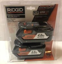 BRAND NEW RIDGID AC840087P 18V Li-Ion 4.0Ah Battery 2-Pack w/ Onboard Fuel Gauge