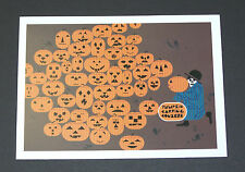 "Charles/Charley Harper Notecards ""Halloween-Jackolantern"" 4 Pack w/Envelopes"