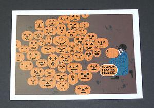 "Charles/Charley Harper Notecards ""Halloween-Jackolantern"" 4 Pack w/Envelopes"