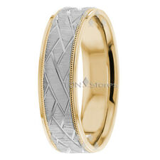 14K YELLOW GOLD MENS WOMENS UNUSUAL CENTER MILGRAIN WEDDING BANDS RINGS SET