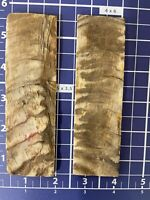 "Rough Textured 1-pair (Real RAM horn )knife Scales 1 1/2""x 5"" X1/4"" Muilty Color"