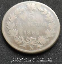 1862 Italia 5 Centesimi Moneda