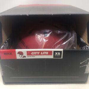 Pro-Tec City Lite Bike Helmet Satin Red Lightweight Polycarbonate XS New