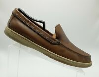 Tommy Bahama Alexander Boat Shoes Slip on Leather Upper Brown Relax Size 9M