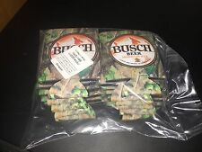12 AUTHENTIC Camo Hunting BUSCH BEER Koozie Orange Budweiser Fishing Bud Light