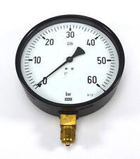 """WIKA Ø160mm Manometer 9051856 unten 0-60 bar G 1/2"""" 212.20.160 NEU OVP"""
