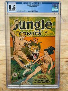 JUNGLE COMICS 103 CGC 8.5! (1948 Fiction House) GGA Matt Baker art Celardo Cover
