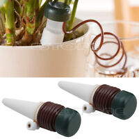 2Pcs Automatic Drip Waterer Spike Tender Houseplant Plant Indoor Watering System