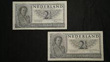 Niederlande, 2 x 2,5 Gulden 1949                                     (Art.20075)