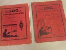 VINTAGE HAM RADIO log books ? lot of 2