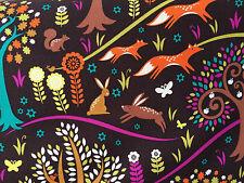 By 1/2 Yard ~ Michael Miller Foxtrot Fabric ~ Norwegian Woods Fox Rabbit Forest