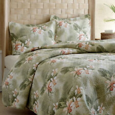 Tommy Bahama Retro Tropical Orchid 3-Pc Cotton Coverlet, Quilt Set-Full/Queen