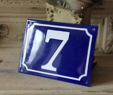 Antique French Traditional Blue & White Industrial Enamel Door,Gate Sign N° 7